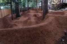 Back Yard Pump Track...grass is SO over- rated.