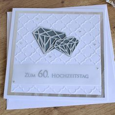 "Grußkarte, Glückwunschkarte ""Diamantene Hochzeit"" aus der Manufaktur KarLa You are in the right place about DIY Anniversary gifts Here we offer you the most beautiful pictures about the DIY Anniversar Anniversary Cake Pictures, Anniversary Surprise, Anniversary Dinner, Anniversary Dates, Wedding Anniversary, Diy And Crafts, Paper Crafts, Karten Diy, Love Cards"