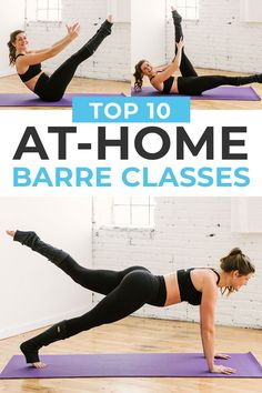 Get a full body workout at home with one of these challenging BARRE CLASSES! Ranging from beginner barre to advanced cardio barre, these workouts bring the boutique studio experience to your home, for free! #onlineworkouts #youtubeworkouts #barre #athomebarre Barre Exercises At Home, Cardio Barre, At Home Workouts, Pilates, Fitness Nutrition, Yoga Fitness, 45 Minute Workout, Lose Fat Workout, Full Body Workout At Home