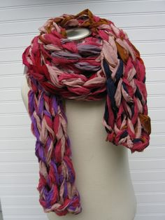 Giant Reclaimed Chiffon Knit Scarf