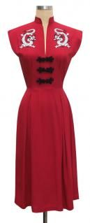 Trashy Diva Dragon Lilian Dress cg-d08-4-dragon-red