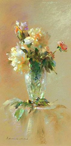 Pastel painting by Javad Soleimanpour. Soft Pastel Art, Pastel Flowers, Pastel Drawing, Soft Pastels, Art Floral, Paintings I Love, Beautiful Paintings, Floral Paintings, Objets Antiques