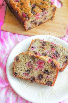 Dark Chocolate Raspberry Banana Bread from Sally's Baking Addiction