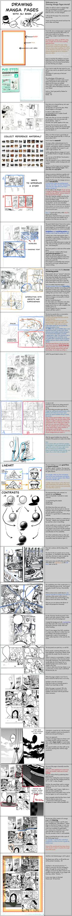 Drawing Manga Pages - Tutorial by ~AliTheBandit on deviantART