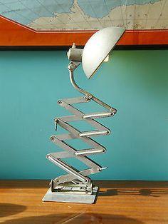 Vintage industrial lamp- extendible scissor arm, Mid-century, working order. in Home, Furniture & DIY, Lighting, Lamps | eBay Vintage Industrial Lighting, Lamps, Arm, Mid Century, England, Steel, Modern, Ebay, Furniture