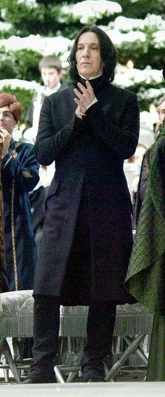 Severus Snape(Harry Potter Film Series) played Alan Rickman(R. Harry Potter World, Harry Potter Universe, Mundo Harry Potter, Harry Potter Love, Harry Potter Fandom, James Potter, Severus Hermione, Professor Severus Snape, Alan Rickman Severus Snape