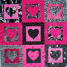 Heart quilt by Sondra Millard