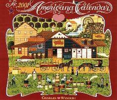 2001 Americana Wall Calendar