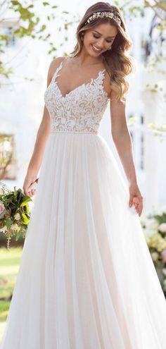 Soo #romantisch und bezaubernd - Brautkleid von Stella York aus der Kollektion 2018 #beautifuldress #boho #vintage #stellayork #weddingdress #hochzeit #brautkleid
