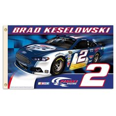 #2 Brad Keselowski 2013 Two Sided 3 x 5 Flags with HD Grommets from B.S.I Products. Product ID: 2913 $40.00 #PenskeRacing #2bradkeselowski #NASCAR #Flags #Ford   #Tailgating #Raceday #NASCAR #nascarfans For More Brad Keselowski Merchandise Please Visit Us @ http://store.nascarshopping.net