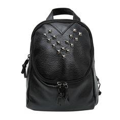 Diamond Leather Backpack