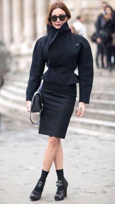 Ece Sükan of Vogue Turkey wearing Alaïa.