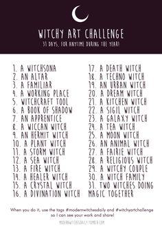 "modernwitchesdaily: "" WITCHY ART CHALLENGE ✨  Summer is coming and here is for you, all witch artist/writer of this world, a Challenge with only witchy stuff to draw or write about! You can do whatever you want with it, whenever you want! It's just..."