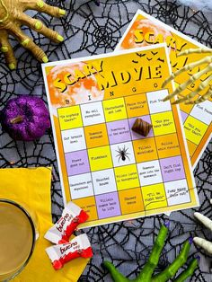 Kick start your Halloween with Scary Movie Night Bingo using Kinder Bueno Mini! Rules: gather your movie-night crew, download and print bingo cards, buy a Kinder Bueno Mini Share or Family Pack, and throw on a scary movie! Every time something happens that is listed on the card, place an individual Kinder Bueno Mini on the corresponding square. Once someone gets five squares in a row, they win, and get to enjoy Kinder Bueno Mini first before sharing with the group! (Credit: @bestdayoftheweek_) Halloween Party Games, 31 Days Of Halloween, Fall Halloween, Halloween Crafts, Happy Halloween, Halloween Decorations, Holiday Parties, Holiday Fun, Ghost Crafts