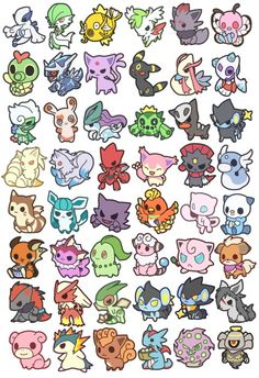 The most adorable Pokemon ever. I seriously want to get one as a tattoo. <3