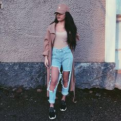 Pinterest : ||@snazzysoul || Literally how all my ripped jeans look