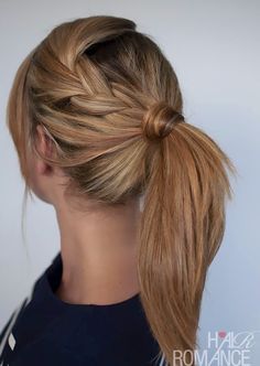 updo. braid into ponytail