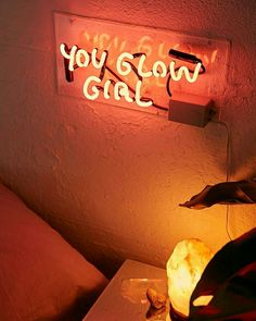 Shop Amber Ibarreche UO Exclusive You Glow Girl Neon Sign at Urban Outfitters today. We carry all the latest styles, colors and brands for you to choose from right here. Orange Aesthetic, Aesthetic Colors, Rainbow Aesthetic, Photo Wall Collage, Picture Wall, Orange Pastel, Orange Walls, Neon Lighting, My New Room