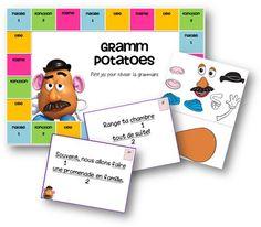 Un petit jeu pour réviser les natures et fonctions des mots ainsi que les formes et types de phrases. But du jeu : reconstituer son monsieur Patate en premier en répondant correctement aux question…
