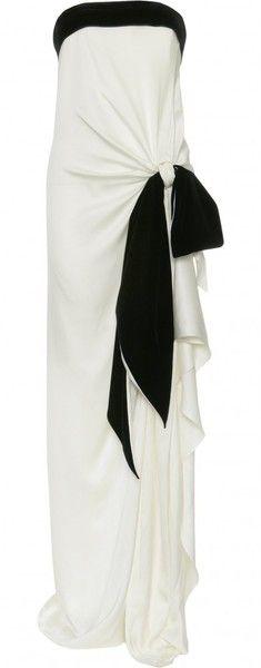 """YVES SAINT LAURENT """"BREATHLESS"""" Silk Strapless Gown"""