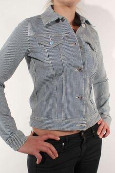Edwin Denim Chanty Jacket CS Denim  Blue Stripe Stone Wash
