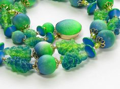Vintage Fruit Salad Necklace Signed Hong Kong by SassyBeauties