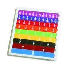 FRACTION TILES WITH TRAY