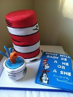 i love this cake.......Cat in the Hat baby shower cake By Ashleyssweetdesigns on CakeCentral.com