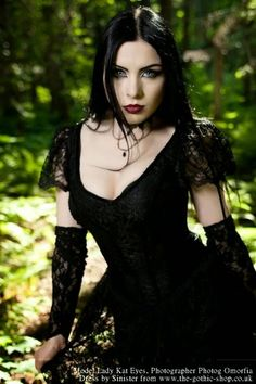 In this stunning forest shoot in Canada last year beautiful Lady Kat Eyes  wore the Alvira Dress  by Sinister and chokers by Dark Embrace Ha...