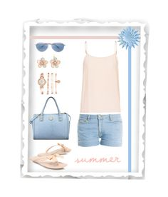 """""""summer days"""" by gallant81 ❤ liked on Polyvore featuring Paul & Joe, Equipment, Carvela Kurt Geiger, Anne Klein, Oliver Peoples, Mixit, women's clothing, women, female and woman"""