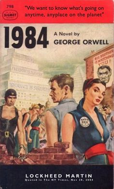 the lessons learnt from george orwells 1984 If you teach 1984, george orwell's nightmarish novel of complete obedience in  which winston smith's quest for freedom, humanity, truth, and.
