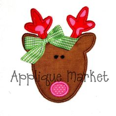 Christmas Applique Designs | Christmas Reindeer Applique Embroidery Design by tmmdesigns, $4.00
