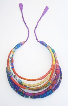 Rope Jewelry, Hippie Jewelry, Jewelry Crafts, Beaded Jewelry, Jewelery, Handmade Jewelry, Fabric Necklace, Rope Necklace, Pendant Earrings