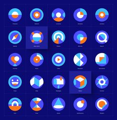 Behance is the world's largest creative network for showcasing and discovering creative work Flat Design Icons, App Icon Design, Logo Design, Typography Design, I Icon, Icon Set, Mises En Page Design Graphique, Application Icon, Behance