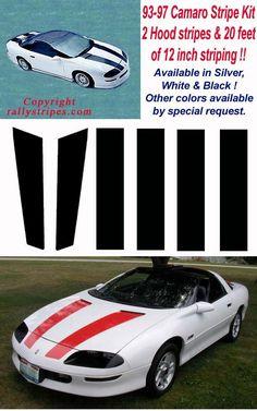 1993 1994 1995 1996 1997 Camaro Racing Stripes