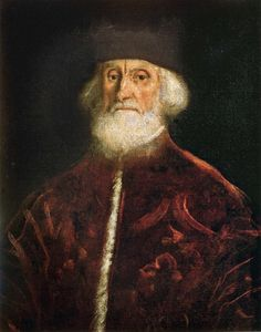 Jacopo Robusti, called Tintoretto. Portrait of Jacopo Soranzo. c.1550. Oil on…
