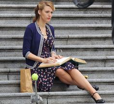 Blake Lively In Gucci – On The Set Of 'Age of Adaline'