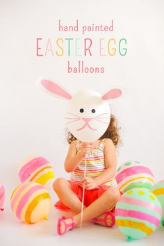 Hand Painted Easter Egg Balloons #tutorial | Stevie Pattyn for The Shop Sweet Lulu Blog
