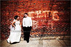 Michigan wedding photography... urban bride and groom