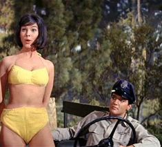 "Elvis and Yvonne Craig in ""Kissin Cousins"""