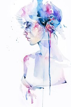 i love tattoo's that look like watercolor paintings.   this painting is called 'loss' by agnes-cecile.deviantart.com