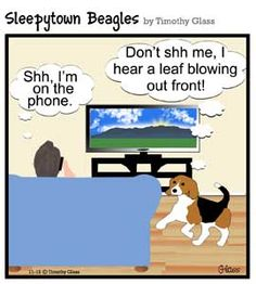 Sleepytown Beagles Cartoons, by Timothy Glass
