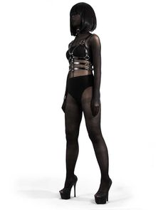 Grace Jones Body Harness is made from strong and durable 100% Vegan leather. It comes with adjustable straps that would fit any size. This piece with lead you into all kinds of mischief.