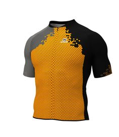 SHORT-SLEEVED CYCLING JERSEY SQUAD 2018 FLUOR ORANGE X3 (VERY TIGHT PATTERN) Perfect for the summer, this short-sleeved cycling jersey quickly wicks away perspiration and keeps you nice and dry. A full-length zipper, an elastic waistband with silicone dots and a trim and LYCRA sleeve come together to provide an excellent fit. The jersey contains three open pockets. Since it is highly resistant to chafing, this garment is ideal for every type of cycling, especially mountain biking. (VERY…