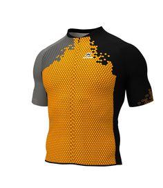 Maillot ciclista manga corta SQUAD 2018 naranja fluor X3 (PATRONAJE MUY  CEÑIDO) 8f35d1d94d8ae