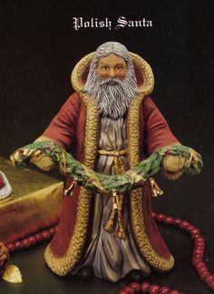 Old World Polish Santa ceramic bisque Tec sheet for by TSoriginals, $12.25