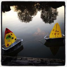 Miss Meghan's Craft Corner ~ Sail Boat Boat Crafts, Summer Crafts, Water Crafts, Torch Lake Michigan, Sailboat Craft, Carver Boats, Used Sailboats, Catamaran Charter, Sailboat Interior