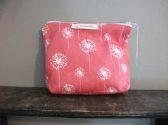 Coral Dandelion Makeup Bag by HASinspiration on Etsy, $15.00