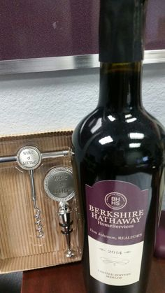 This special bottle of wine was made in 2014 when Berkshire Hathaway HomeServices purchased Prudential Real Estate to celebrate the name change & new partnership with the Berkshire Hathaway brand. Such an awesome company to be under who's trademark is known for quality & respect worldwide. Let's work together. ray.mccurty@gmail.com