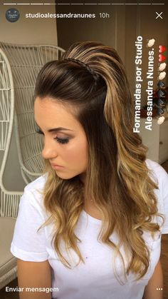 57 ideas for hairstyles updo casual easy 57 idea Weave Ponytail Hairstyles, Trendy Hairstyles, Wedding Hairstyles, Concert Hairstyles, Bouffant Hair, Hair Lengths, Marie, Curly Hair Styles, Hair Makeup